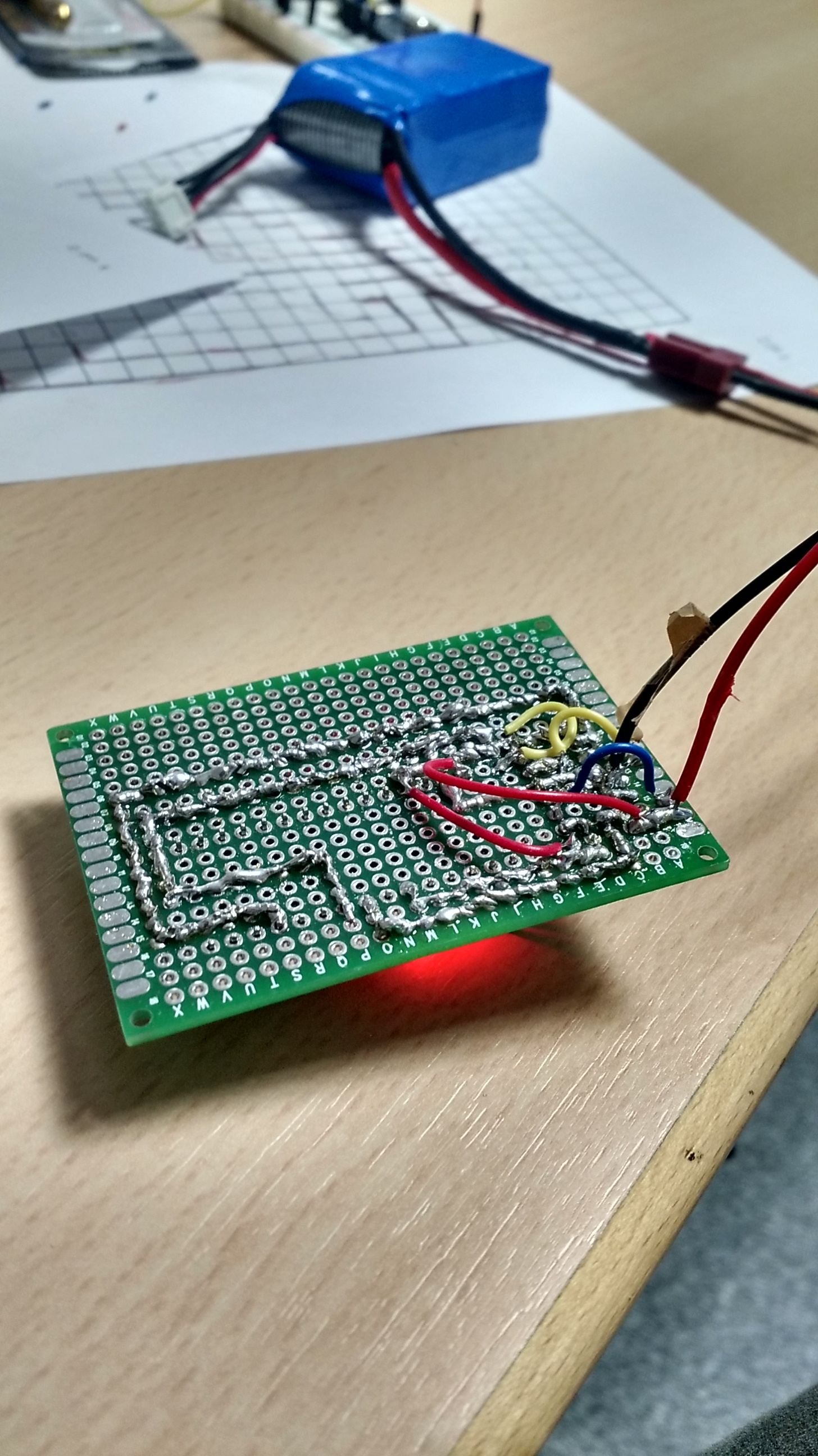 Reviving Old Wire Guided Buggy Fabidouille And Now Also A Picture Of The First Prototype Board For This Circuit As We Lacked Experience In Pcb Usage At Point Our Attempt Was Bit Laborious Not Cleanest Imaginable From On Well
